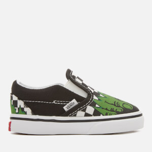 Vans Toddlers' Marvel Hulk Classic Slip-On Trainers - Hulk/Checkerboard
