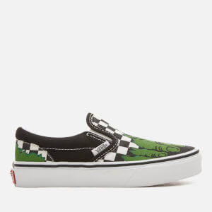 Vans Kids' Marvel Hulk Classic Slip-On Trainers - Hulk/Checkerboard