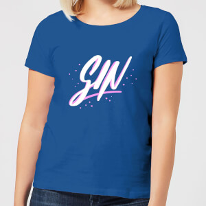 Gin Script Women's T-Shirt - Royal Blue