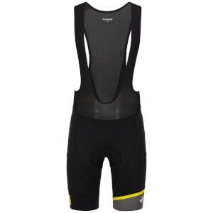 Le Coq Sportif Spring Bib Shorts - Black/Yellow
