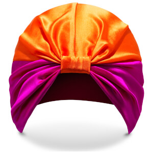 Turbante The Poppy de SILKE - Rosa y naranja