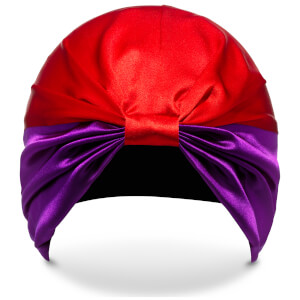 Turbante The Dita de SILKE - Morado y rojo