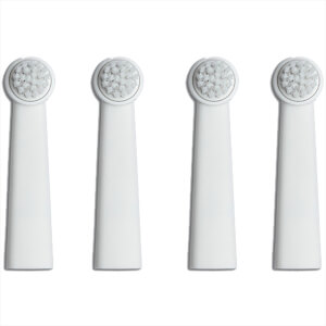 Bruzzoni 1220 4p Brush Heads - White (The Wall Street Collection)