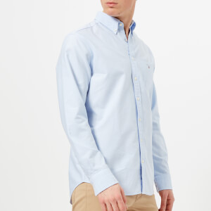 GANT Men's Oxford Long Sleeve Shirt - Capri Blue