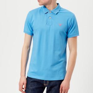 GANT Men's Contrast Collar Polo Shirt - Pacific Blue