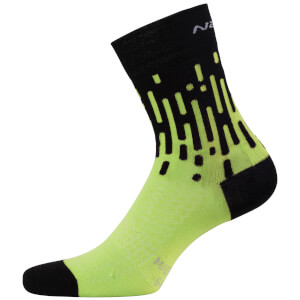 Nalini Tornado Lady Socks - Fluro Yellow/Black