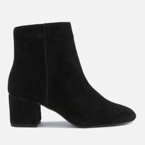 Dune Women's Olyvea Suede Heeled Ankle Boots - Black