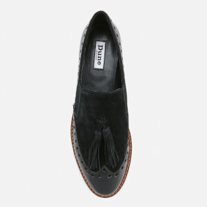 Dune Women's Glorya Suede Loafers - Black: Image 3
