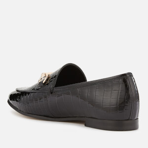 Dune Women's Guilt Leather Loafers - Black: Image 2