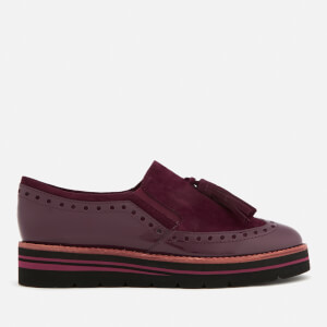 Dune Women's Glorya Suede Loafers - Berry