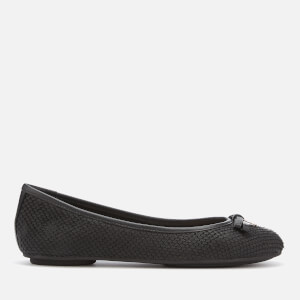 Dune Women's Harps Leather Ballet Flats - Black