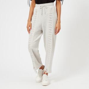 McQ Alexander McQueen Women's Laced Sweatpants - Ivory Melange