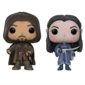 Lord of the Rings Aragorn & Arwen EXC Pop! Vinyl Figure 2-Pack