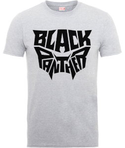 T-Shirt Black Panther Emblem - Grigio