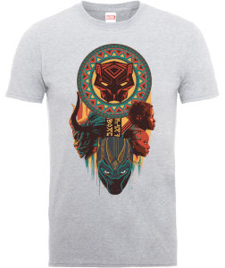 T-Shirt Black Panther Totem - Grigio