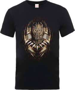 T-Shirt Black Panther Gold Erik - Nero