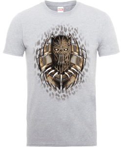 Black Panther Gold Erik Killmonger T-shirt - Grijs