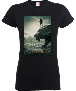 T-Shirt Black Panther Poster - Nero - Donna