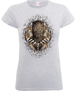 T-Shirt Black Panther Gold Erik - Grigio - Donna