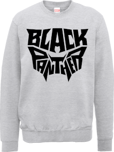 Black Panther Emblem Sweatshirt - Grey
