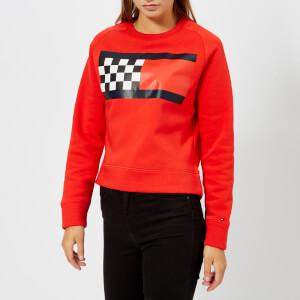 Tommy Hilfiger Women's Bia Crew Neck Pitt Sweatshirt - Red