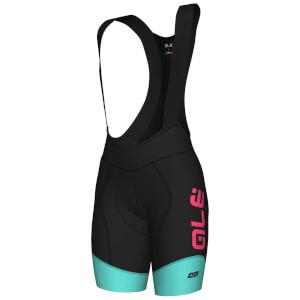 Alé Women's R-EV1 Master Bib Shorts - Black/Turquoise/Pink