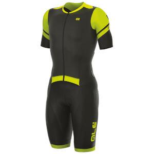Alé R-EV1 Fiandre Strada Skinsuit - Black/Yellow