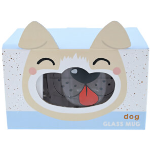 Tiergesichts-Glastasse - Hund