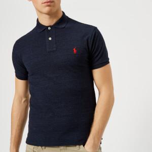 Polo Ralph Lauren Men's Slim Fit Basic Mesh Polo Shirt - Worth Navy Heather