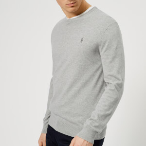 Polo Ralph Lauren Men's Pima Cotton Crew Neck Knit Jumper - Andover Grey Heather