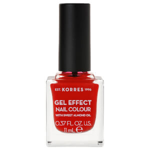 KORRES Gel-Effect Sweet Almond Nail Colour - 48 Coral Red 11ml