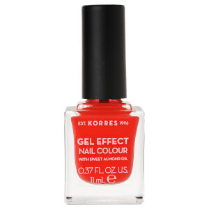 KORRES Gel-Effect Sweet Almond Nail Colour - 45 Coral 11ml