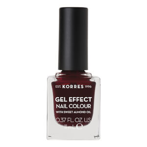 KORRES Gel-Effect Sweet Almond Nail Colour - 57 Burgundy Red 11ml
