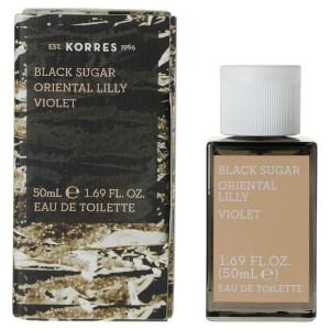KORRES For Her Black Sugar, Oriental Lily and Violet Eau de Toilette 50ml