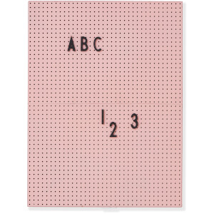 Design Letters A4 Message Board - Pink