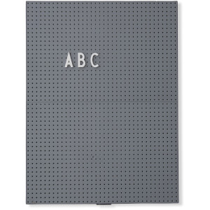 Design Letters A4 Message Board - Dark Grey