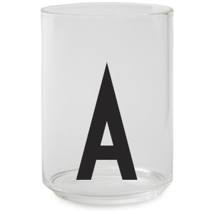 Design Letters Drinking Glass - A