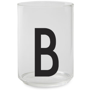 Design Letters Drinking Glass - B