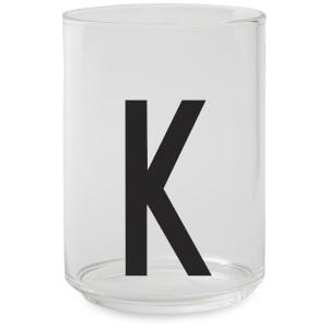 Design Letters Drinking Glass - K