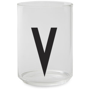 Design Letters Drinking Glass - V