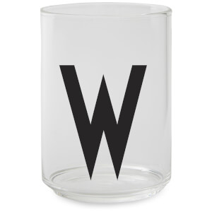 Design Letters Drinking Glass - W