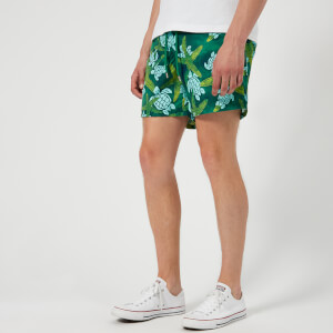 Vilebrequin Men's Moorea Starlettes and Turtles Swim Shorts - Malachite Green
