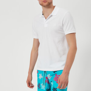 Vilebrequin Men's Palatin Short Sleeve Polo Shirt - Blanc
