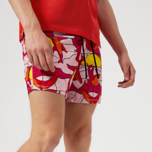 Vilebrequin Men's Moorea Magic Whales Swim Shorts - Rose