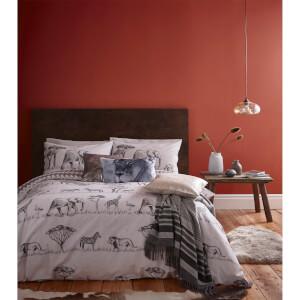 Catherine Lansfield Safari Duvet Set - Grey