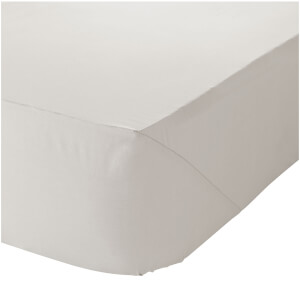 Catherine Lansfield Easy Iron Percale Fitted Sheet - Cream