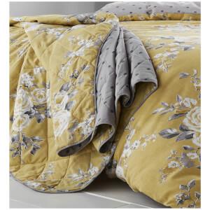 Catherine Lansfield Canterbury Bedspread - Ochre - 220 x 230cm