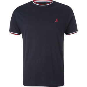 Brave Soul Men's Federer Tipped T-Shirt - Rich Navy