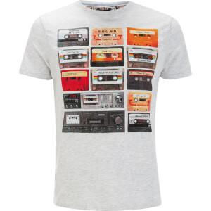 Brave Soul Men's Decade Cassette T-Shirt - Ecru Marl