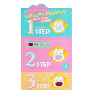 Set de 3 pasos Golden Monkey Glamour Lip de Holika Holika